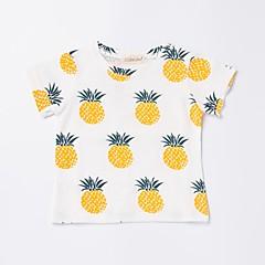 tanie Odzież dla chłopców-Brzdąc Dla chłopców Aktywny / Podstawowy Codzienny / Sport Ananas Owoc Nadruk Krótki rękaw Regularny Bawełna T-shirt Beżowy 100