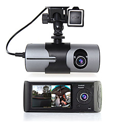 cheap Car DVR-r300 480p / 720p HD Car DVR 140 Degree Wide Angle 2.7 inch Dash Cam with GPS / Night Vision / G-Sensor Car Recorder / motion detection / Loop recording / WDR / Built-in microphone / Photograph