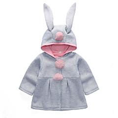 billige Babytøj-Baby Pige Aktiv / Gade Daglig / I-byen-tøj Patchwork Patchwork Langærmet Normal Bomuld Trenchcoat Rød