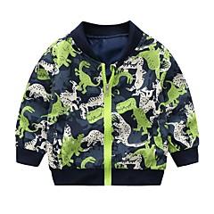 billiga Babykläder Pojkar-Bebis Pojkar Vintage Enfärgad Långärmad Normal Linne / Akryl / Polyester Jacka och kappa Grön / Småbarn