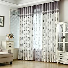お買い得  窓回り-カスタムメイド 省エネルギー カーテンドレープ 2パネル 2*(W107cm×L213cm) / ベッドルーム