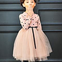 halpa Tyttöjen vaatteet-Lapset Tyttöjen Perus Yhtenäinen Pitkähihainen Mekko Musta