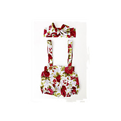 billige Bukser og leggings til piger-Baby Pige Basale Daglig Blomstret Trykt mønster Bomuld / Akryl Bukser Regnbue