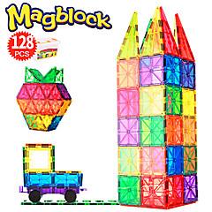 tanie Klocki magnetyczne-Płytki magnetyczne 128 pcs Kreatywne Wzór geometryczny Przejście kolorów Wszystko Dla chłopców Dla dziewczynek Zabawki Prezent