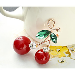 billige Motebrosjer-Dame Kubisk Zirkonium geometriske Nåler - Kirsebær, Kreativ Mote Brosje Smykker Rød Til Bryllup / Stevnemøte
