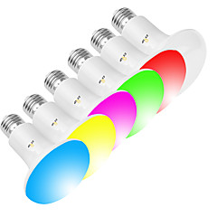 olcso Dekorativna rasvjeta-exup 1pc 10w 800lm e26 / e27 ledbulb r80 / br30 wifi intelligens villanykörte fényvisszaverhető ébresztő lámpák app vezérlő kreatív rgbw led lámpa kompatibilis alexa és google asszisztens ac 85-265v