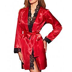 billige Moteundertøy-Dame Skjorter og kjoler Nattøy - Ensfarget, Blonde