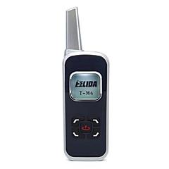 billige Walkie-talkies-m6 mini walkie talkie 125ch 2w uhf 400-520mhz pmr446 vox lcd display skin radio FM transceiver toveis radio