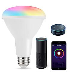 tanie Dekorativní osvětlení-KWB 1 zestaw 10 W 1000 lm E26 / E27 Inteligentne żarówki LED R80 22 Koraliki LED SMD 5730 Smart / Kontrola APP / Chronometraż RGBW 100-240 V