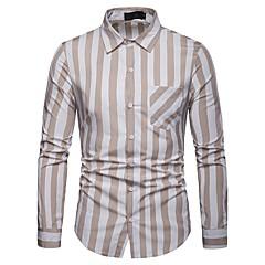 Camicia da uomo slim fit da uomo - collo camicia a righe