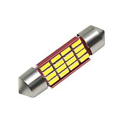 billige Interiørlamper til bil-SO.K 4stk 39mm Bil Elpærer 3 W SMD 4014 250 lm 16 LED interiør Lights Til Universell Alle år