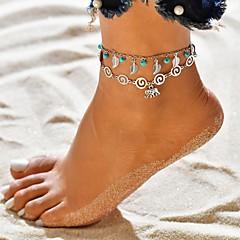 billige Kropssmykker-Dame fotlenke - Sølvplett Elefant Tropisk Smykker Sølv Til Bryllup Engasjement Gate Valentine Bikini