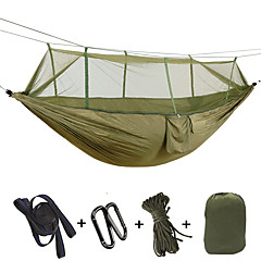 cheap Camping, Hiking & Backpacking-Camping Hammock with Mosquito Net Outdoor Lightweight Quick Dry Breathability Nylon for 2 person Fishing Camping - Fuchsia Army Green Camouflage