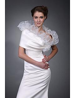 abordables Boléros de Mariage-Demi Manches Polyester Fête / Soirée Etoles de Femme With Broderie Manteaux / Vestes