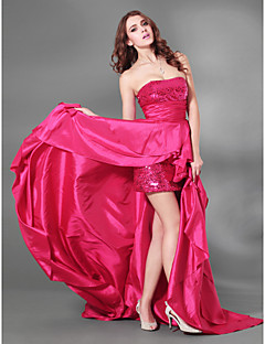 cheap Special Occasion Dresses-A-Line Strapless Court Train Taffeta Sequined Cocktail Party / Formal Evening Dress with Split Front by TS Couture®