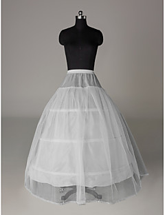 Wedding Special Occasion Slips Nylon Tulle Netting Floor-length A-Line Slip With