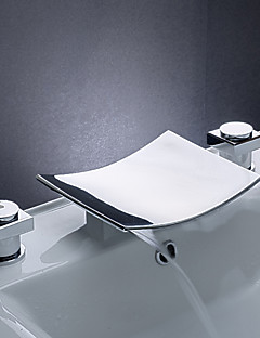billige Foss-Baderom Sink Tappekran - Foss Krom Udspredt Tre Huller / To Håndtak tre hullBath Taps / Messing