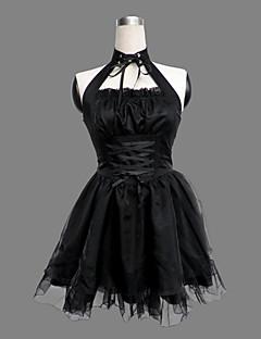 billiga Lolitamode-Prinsessa Gotisk Lolita Punk Lolita Punk Dam Klänningar Cosplay Ärmlös Kort längd Kostymer