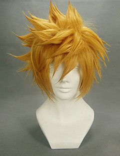 baratos Perucas de Vídeo Games-Perucas de Cosplay Kingdom Hearts Roxas Anime/Vídeo Games Perucas de Cosplay 35 CM Fibra Resistente ao Calor Homens