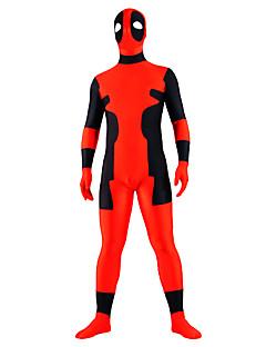 Ternos Zentai Ninja Fantasia Zentai Fantasias de Cosplay Retalhos Collant/Pijama Macacão Fantasia Zentai Elastano Unisexo Dia Das Bruxas