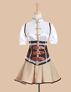 cheap Anime Costumes-Inspired by Puella Magi Madoka Magica Tomoe Mami Anime Cosplay Costumes Cosplay Suits Dresses Patchwork Short Sleeves Vest Blouse Skirt