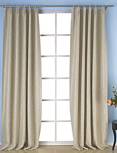 baratos Cortinas Personalizadas-Cortinas cortinas Sala de Jantar Sólido Poliéster Gravado