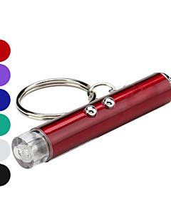 baratos Total Promoção Limpa Estoque-Chaveiros com Lanterna Laser / LED 2 Modo Iluminação Com Pilhas Campismo / Escursão / Espeleologismo Vermelho / Verde / Azul