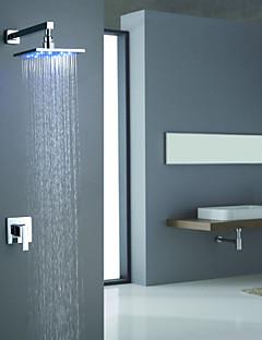お買い得  Sprinkle® シャワー用蛇口-コンテンポラリー  with  クロム シングルレバー 二つ  for 壁式 LED