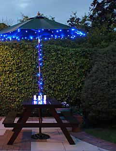 baratos Luzes de presente-100 azul ao ar livre conduziu luzes solares de fadas decoração de Natal Presentes Lâmpada