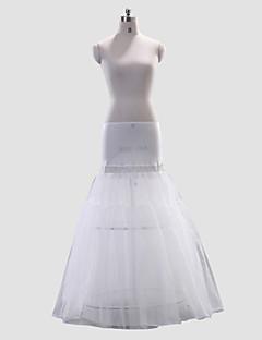 billiga Brudklänningsunderkjol-Bröllop Speciellt Tillfälle Underklänningar Polyester Elastan Golvlång A-linjeformad Underkjol/klänning Med