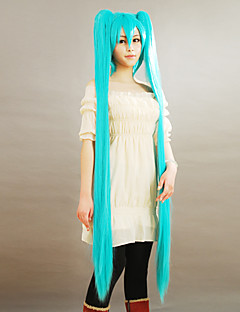 cheap Videogame Cosplay Wigs-Cosplay Wigs Vocaloid Hatsune Miku Anime/ Video Games Cosplay Wigs 150 CM Men's Women's