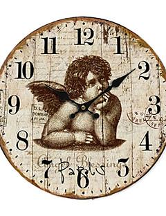 Χαμηλού Κόστους Ξύλινα Ρολόγια Τοίχου-χώρα άγγελος ρολόι τοίχου