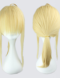 billige Anime cosplay-Cosplay Parykker Fate/zero Saber Anime Cosplay-parykker 45 CM Varmeresistent Fiber Dame