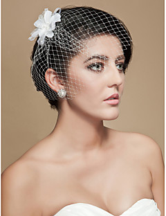 cheap Wedding Veils-Wedding Veil One-tier Blusher Veils Birdcage Veils Cut Edge Tulle