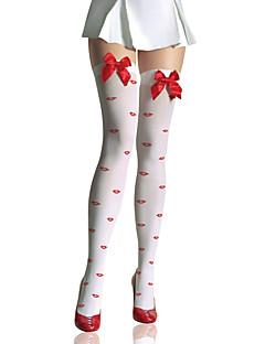Ponožky a punčochy Sweet Lolita Lolita Červenobílá Lolita Příslušenství Punčocháče Mašle Pro Nylon