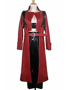 cheap Videogame Costumes-Inspired by Devil May Cry Dante Video Game Cosplay Costumes Cosplay Suits Patchwork Long Sleeves Coat Pants