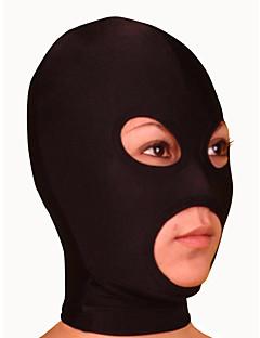 お買い得  全身タイツスーツ-マスク 忍者 全身タイツ コスプレ衣装 ブラック ソリッド マスク ライクラ 男性用 / 女性用 ハロウィーン / 高弾性