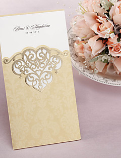 """preiswerte Spezial Angebote-Hülle & Taschenformat Hochzeits-Einladungen Einladungskarten Klassicher Stil Kunstpapier 8 ½""""×4 ½"""" (21.5*11.5cm)"""