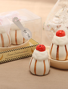 olcso Babaváró buli köszönetajándékok-édes desszert tervezés kerámia só és borsszóró (2 db)