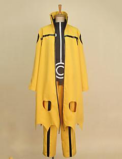 """billige Anime cosplay-Inspirert av Naruto Naruto Uzumaki Anime  """"Cosplay-kostymer"""" Cosplay Klær Lapper Langermet Frakk Trøye Bukser Sko Dekke Pannebånd Til"""