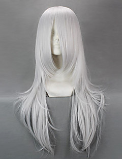 Cosplay Wigs Natsume Yuujinchou Cosplay White Medium Anime Cosplay Wigs 70 CM Male / Female