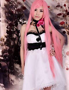 に触発さ Vocaloid Megurine Luka ビデオ ゲーム コスプレ衣装 コスプレスーツ ドレス パッチワーク ノースリーブ ドレス ヘッドピース