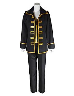 """billige Anime Kostymer-Inspirert av Gintama Cosplay Anime  """"Cosplay-kostymer"""" Cosplay Klær Lapper Langermet Frakk / Vest / Bukser Til Herre"""