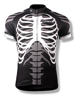 SPAKCT Cycling Jersey Men's Short Sleeves Bike Jersey Top Quick Dry Wearable Breathable Polyester Skulls Summer Cycling/Bike