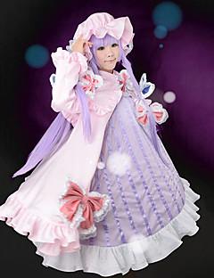 """billige Videospill cosplay-Inspirert av Touhou Projekt Patchouli Knowledge video Spill  """"Cosplay-kostymer"""" Cosplay Klær Kjoler Lapper Langermet Kjole Sløyfe Hatt"""