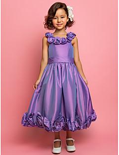 tanie Ślub z motywem przewodnim-Krój A / Księżniczka Lekko nad kolana Sukienka dla dziewczynki z kwiatami - Tafta Bez rękawów Cienkie ramiączka z Przewiązka / Wstążka / Kwiat przez LAN TING BRIDE®