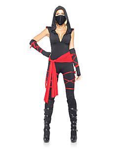 billige Sexy kostymer-Ninja Cosplay Kostumer Party-kostyme Dame Halloween Karneval Festival / høytid Halloween-kostymer Lapper