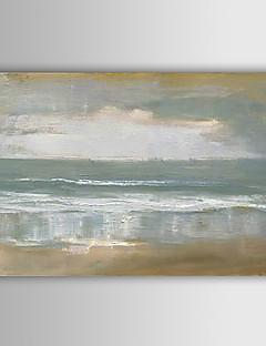 baratos Paisagens Abstratas-Pintados à mão Abstrato Paisagens Abstratas Horizontal,Moderno Estilo Europeu 1 Painel Pintura a Óleo For Decoração para casa