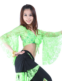 cheap Belly Dance Wear-Belly Dance Tops Women's Training Lace 3/4 Length Sleeves Top