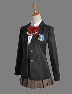 """billige Anime Kostymer-Inspirert av Gratis! Gou Matsuoka Anime  """"Cosplay-kostymer"""" Cosplay Klær Skoleuniformer Lapper Langermet Halsklut Frakk Trøye Skjørte"""